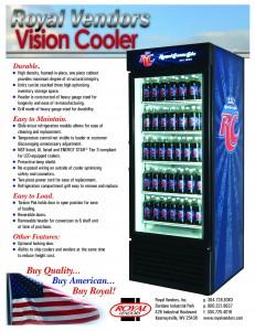 RC – Vision Cooler — Royal Vendors, Inc